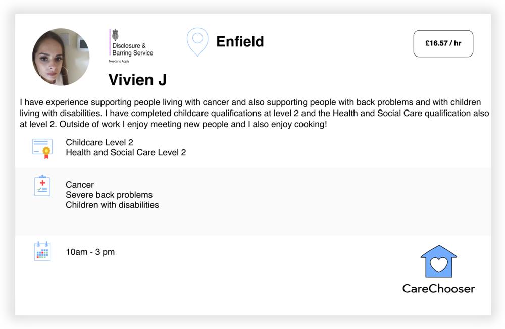 Vivien - Home Care - Enfield