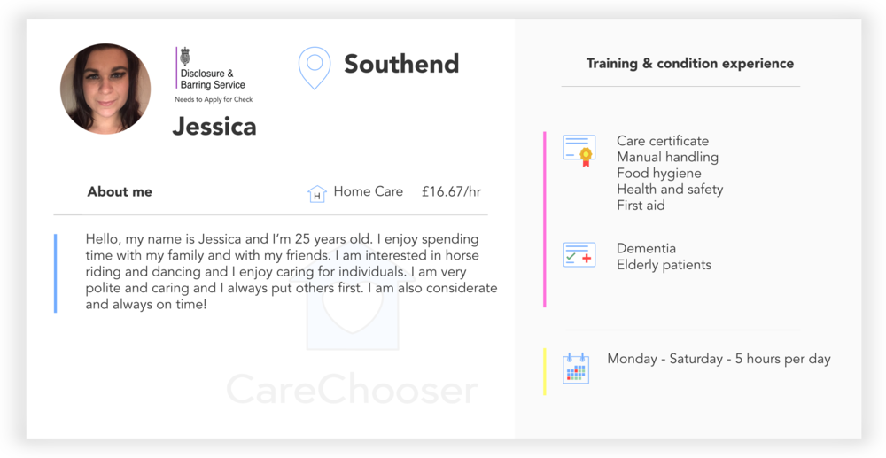 Home Carer In Southend Jessica Quality Home Care Trusted Live
