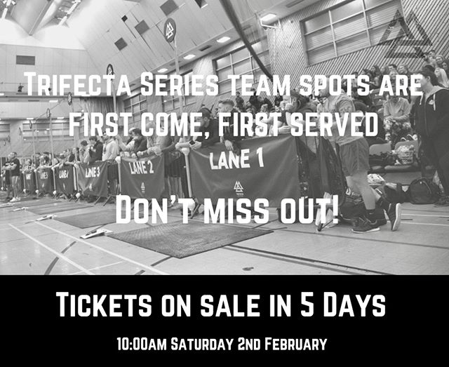 TICKETS ON SALE IN 5 DAYS  YOU DO NOT WANT TO MISS TRIFECTA SERIES 2019