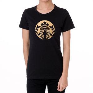 1126e7e58 Starbucks Gold Soft Metallic Foil Design Women's T shirts