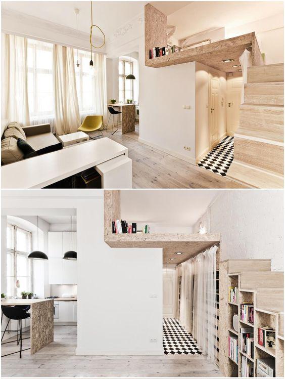 Utilisez les hauteurs pour créer une mezzanine destinée au couchage