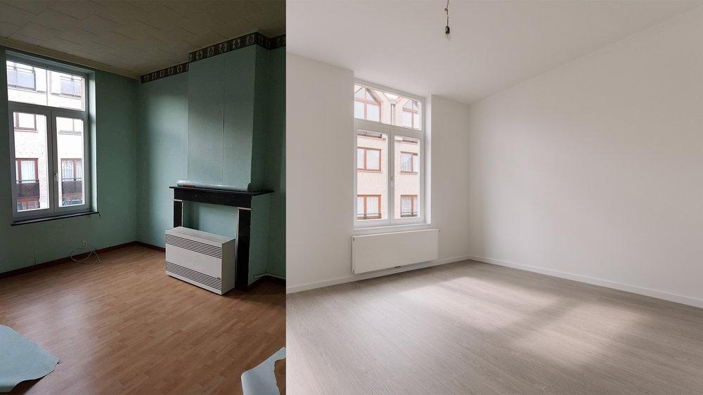 Nouveaux murs, nouveaux plafonds, et le blanc pour faire rentrer le plus de lumière possible