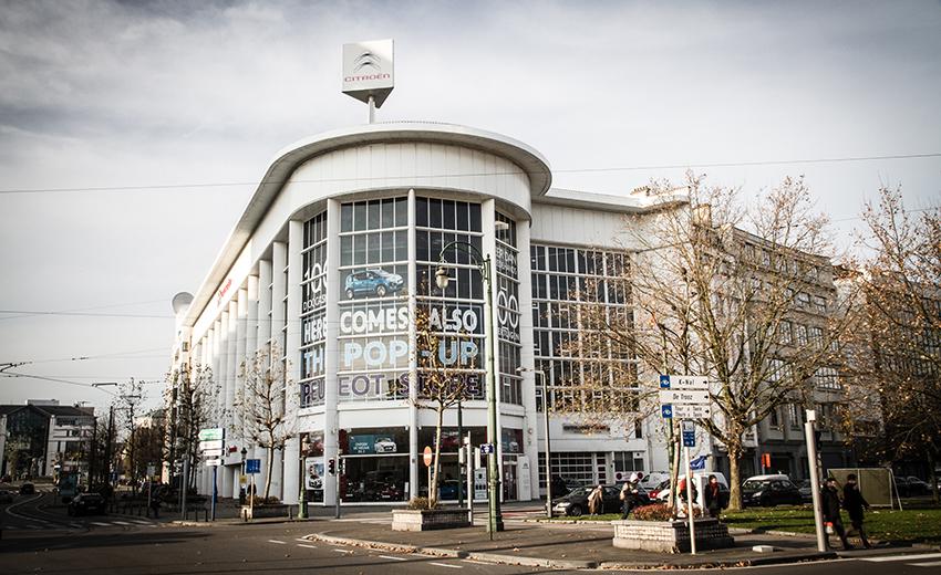 C'est la partie du garage située place d'Yser qui sera bientôt reconvertie en nouveau musée d'art moderne bruxellois.