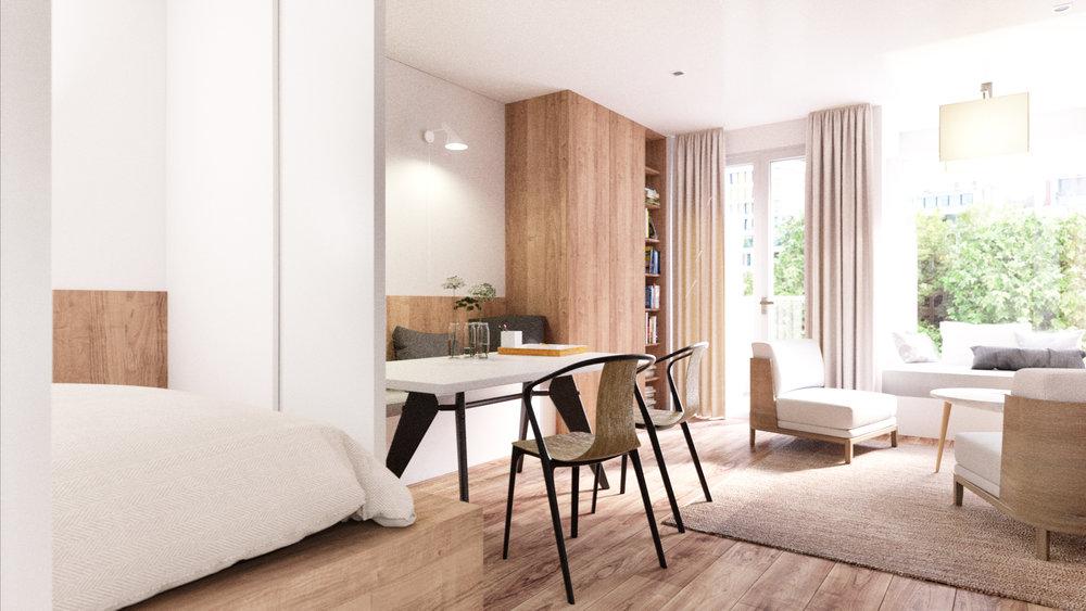 des appartements lumineux, au look contemporain et aux finitions de qualité