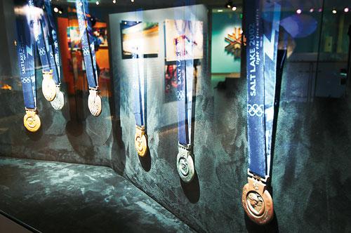 Utah Olympic Park Medals Case