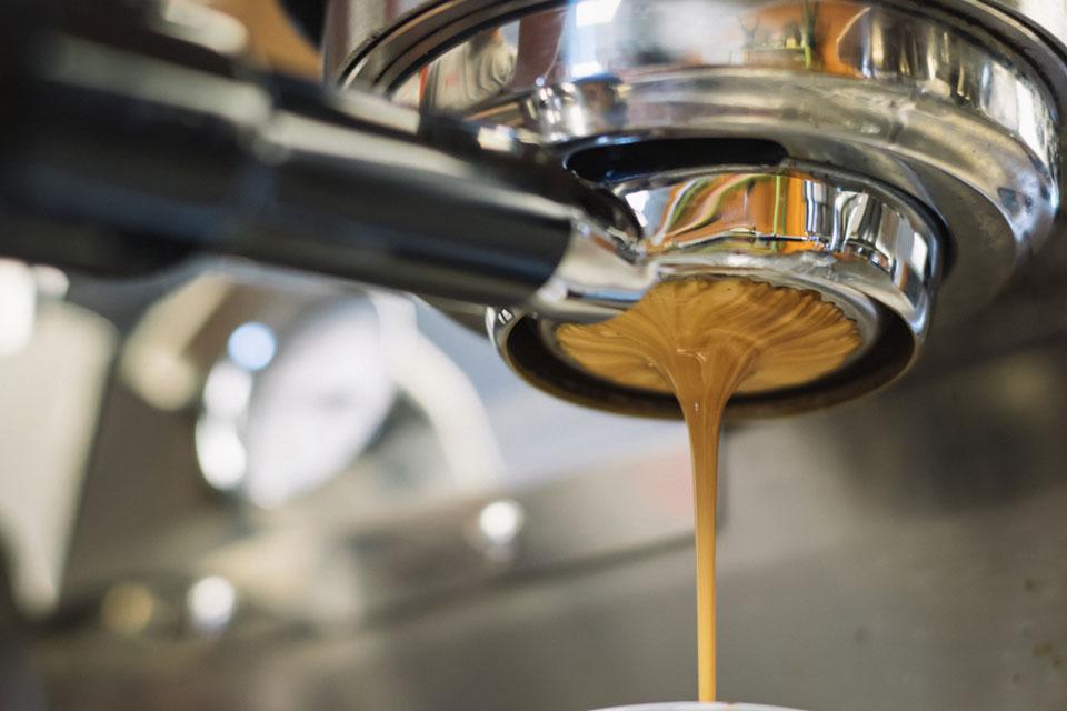 Espresso Machine dripping espresso