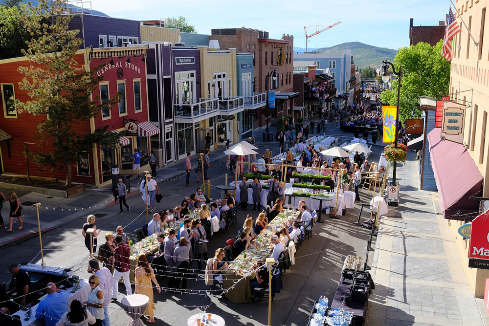 Main Street Park City Savor the Summit food festival aerial view