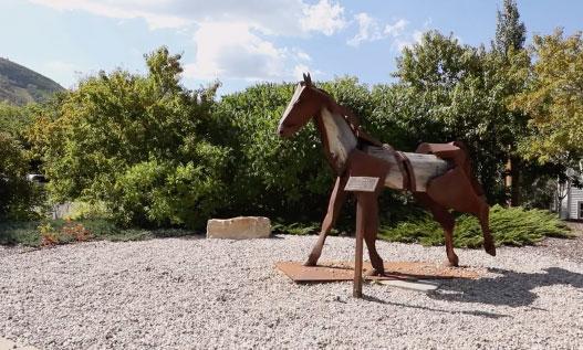 Horse Art Sculpture Flaco