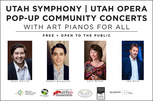 Utah Symphony | Utah Opera Pop-Up Community Concerts with Art Pianos for All