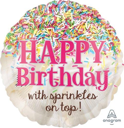 Sprinkles Birthday Balloon Razzle Dazzle Cupcake