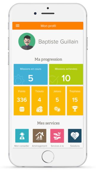 Ecran «Mon Profil » dans l'application mobile MyPrevention