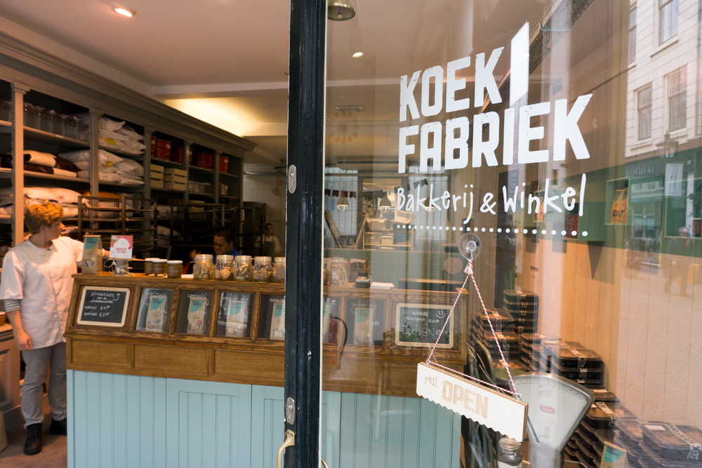 Identity for 'De Koekfabriek' .