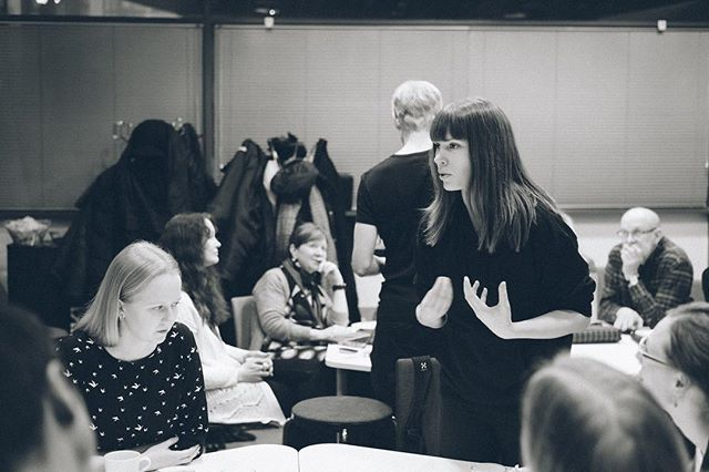 Our speaker Inka Rantakallio @inkamaran during our improv session last week. We are all excited to hear what she will bring to the #TEDxHelsinkiUniversity 2018 event! 😇