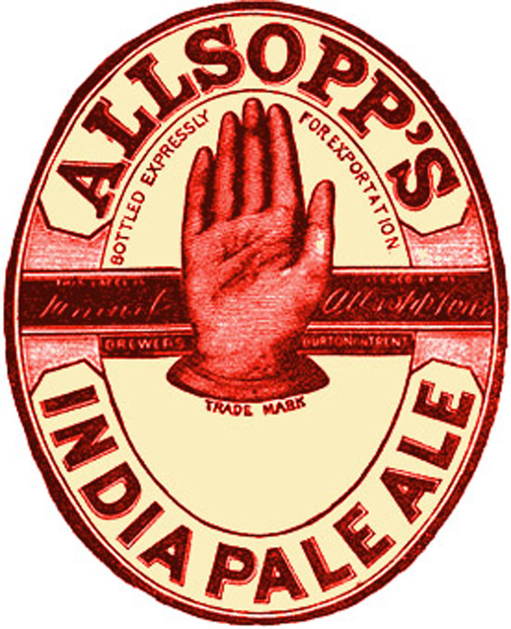 Allsopp's India Pale Ale, one of the first IPAs on the English market