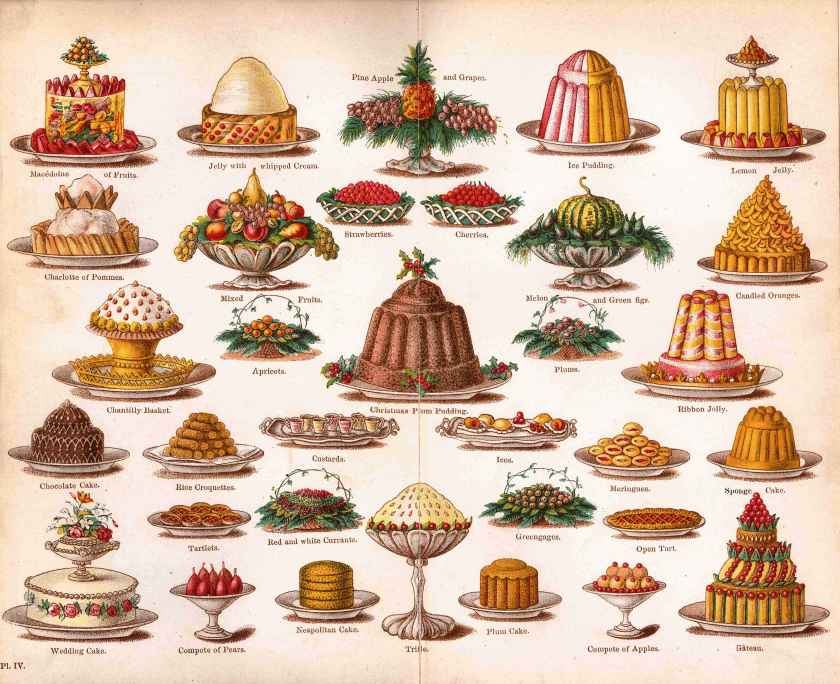 Examples of Mrs. Beeton's delicious delicacies