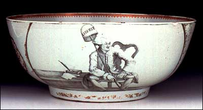 Commemorative bowl of John Wilkes