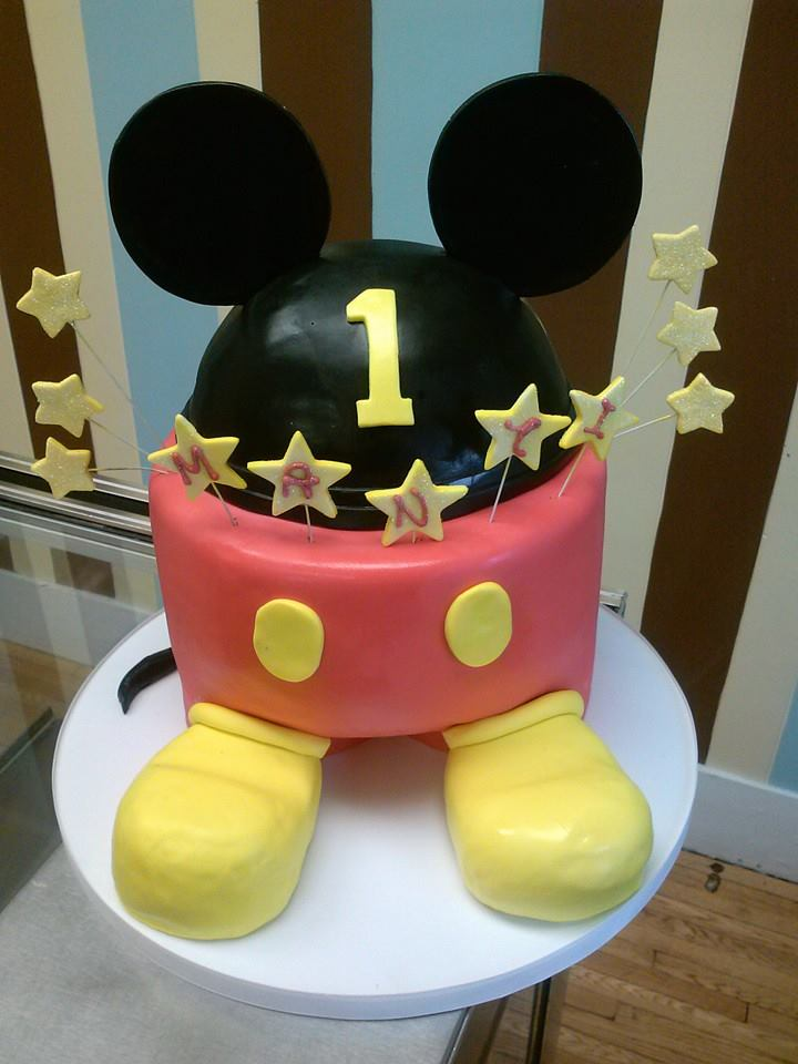 Mickey Mouse Themed First Birthday Cake