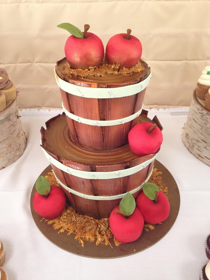 Apple Barrel Wedding Cake