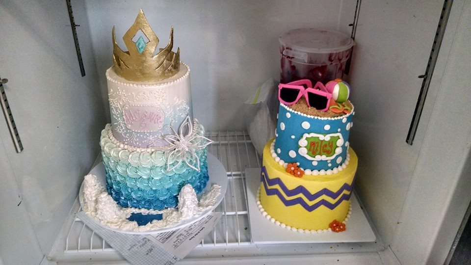 Frozen and Beach Themed Cakes