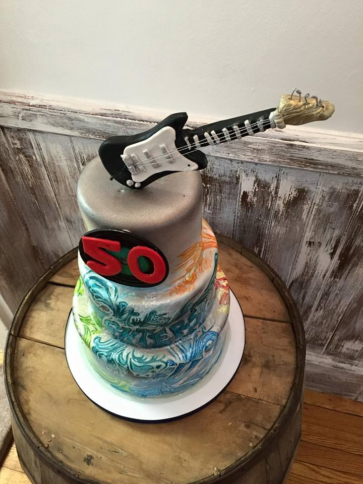 Rock N' Roll Graffiti Cake