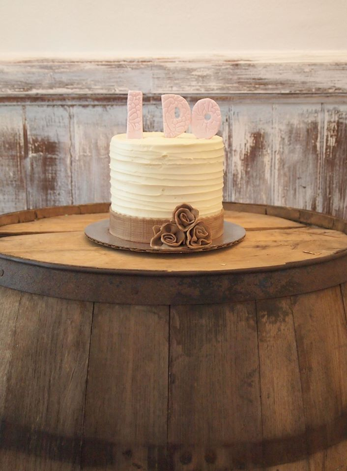 Rustic Bridal Shower Cake.