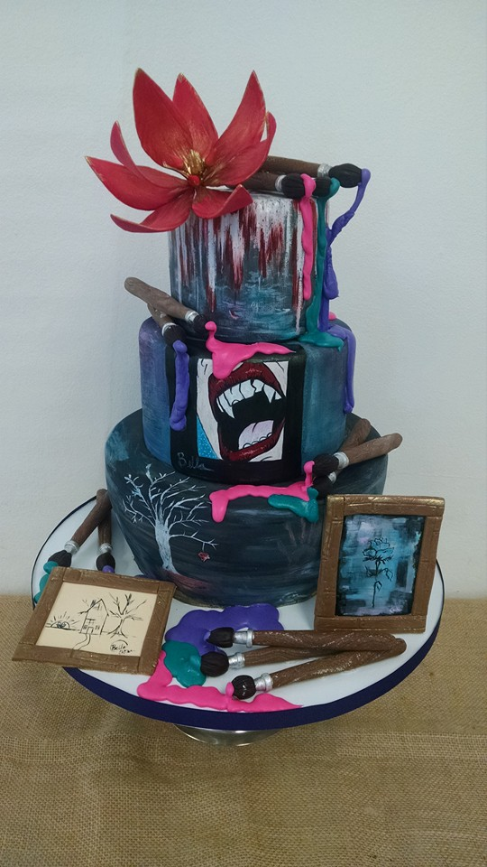 Art Themed Graduation Cake
