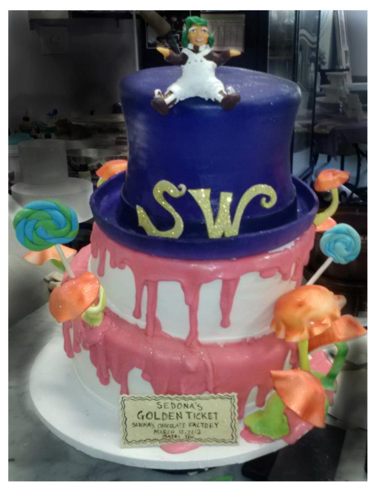 Willy Wonka Themed Cake