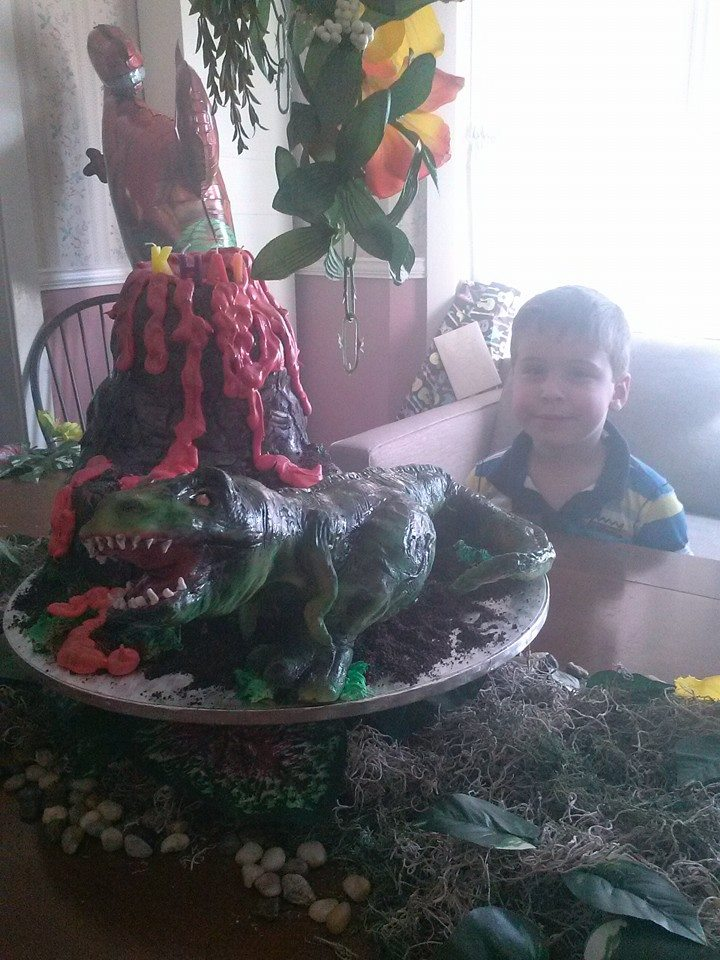 Dino Cake for our Nephew Khai!