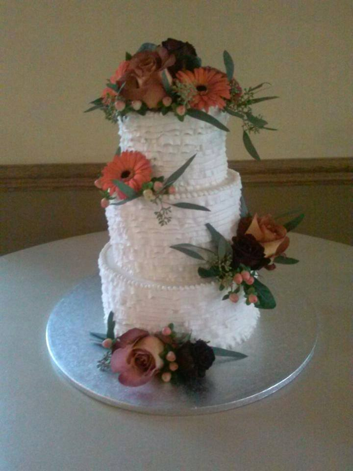 Buttercream Ruffles and Fresh Flowers
