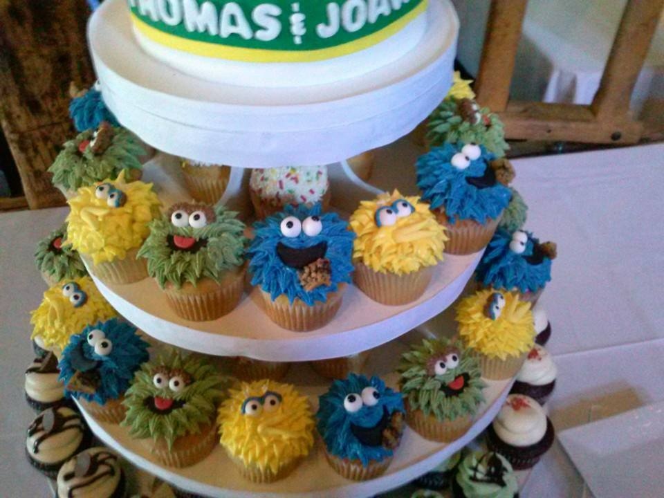 Sesame Street Wedding Cupcakes