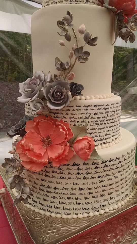 Handpainted Pride and Prejudice Cake
