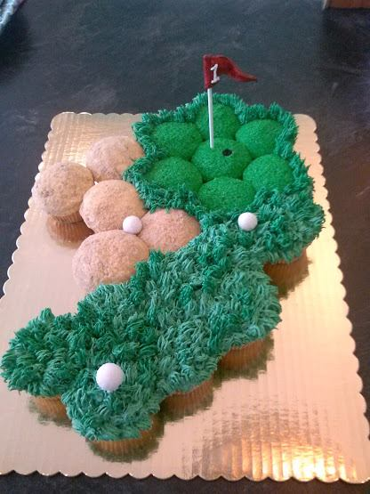 Golf Themed Pull Apart Cake