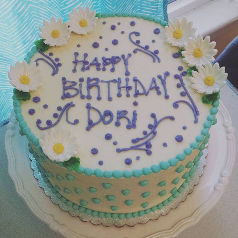 Simple Happy Birthday with Fodant Accents