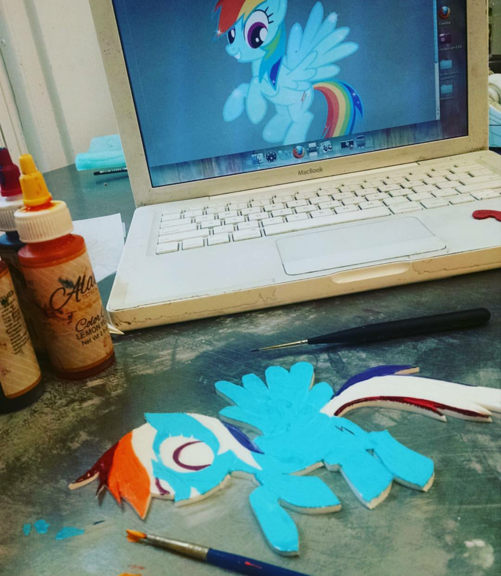 Rainbow Pony Handpainting in Progress