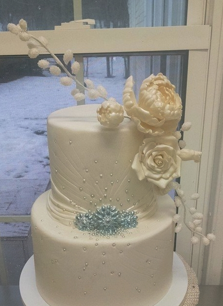 White Winter Inspired Cake