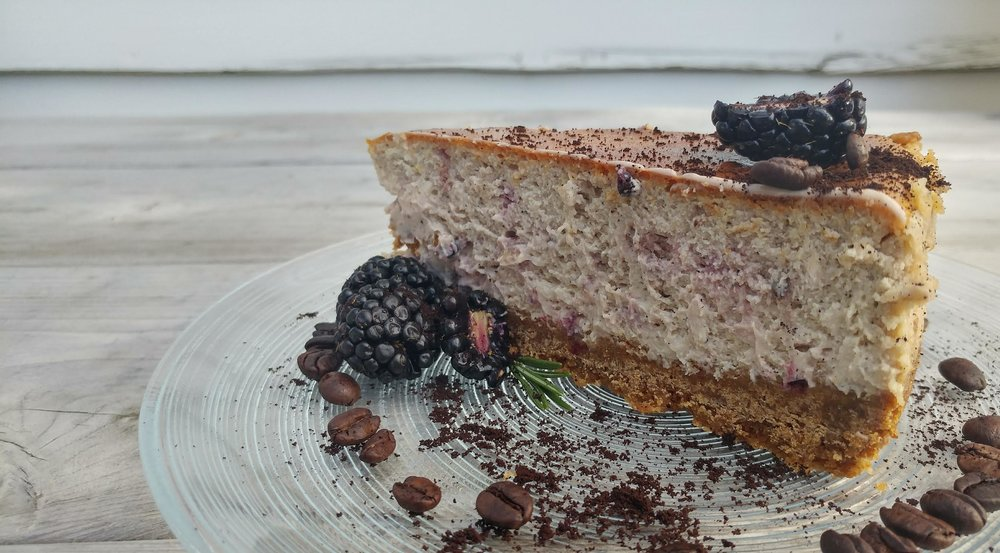 Blackberry Espresso Cheesecake