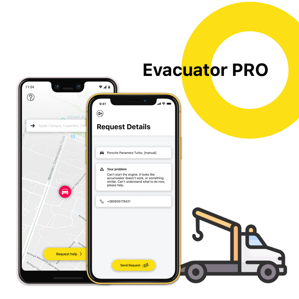 Evacuator PRO (tow truck service app)
