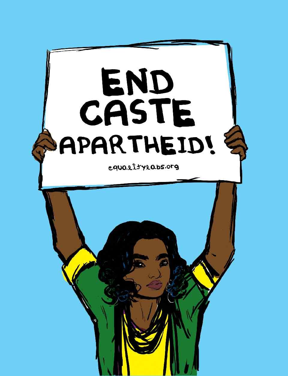 End Caste Apartheid: Shrummi M, Mon Mopatra, Thenmozhi Soundararajan