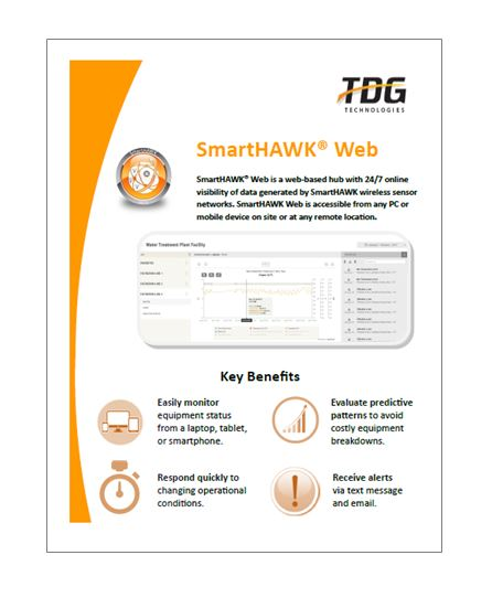 SmartHAWK Web provides 24/7 online visibility of data generated by SmartHAWK wireless sensor networks.