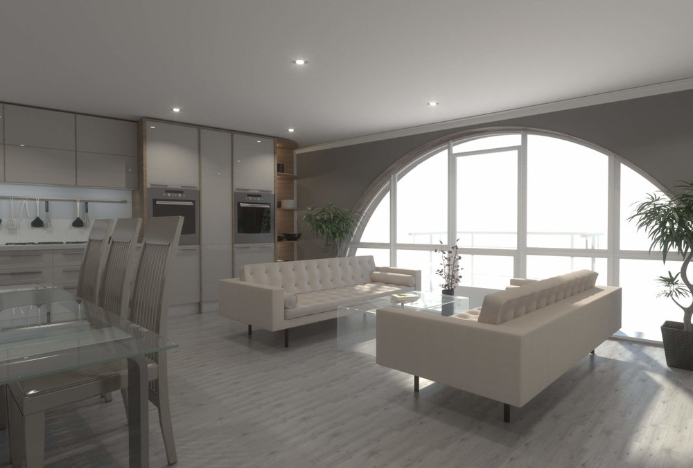 Open Plan Apartment - Visualization