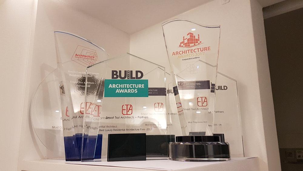 Award Shelf at the studio