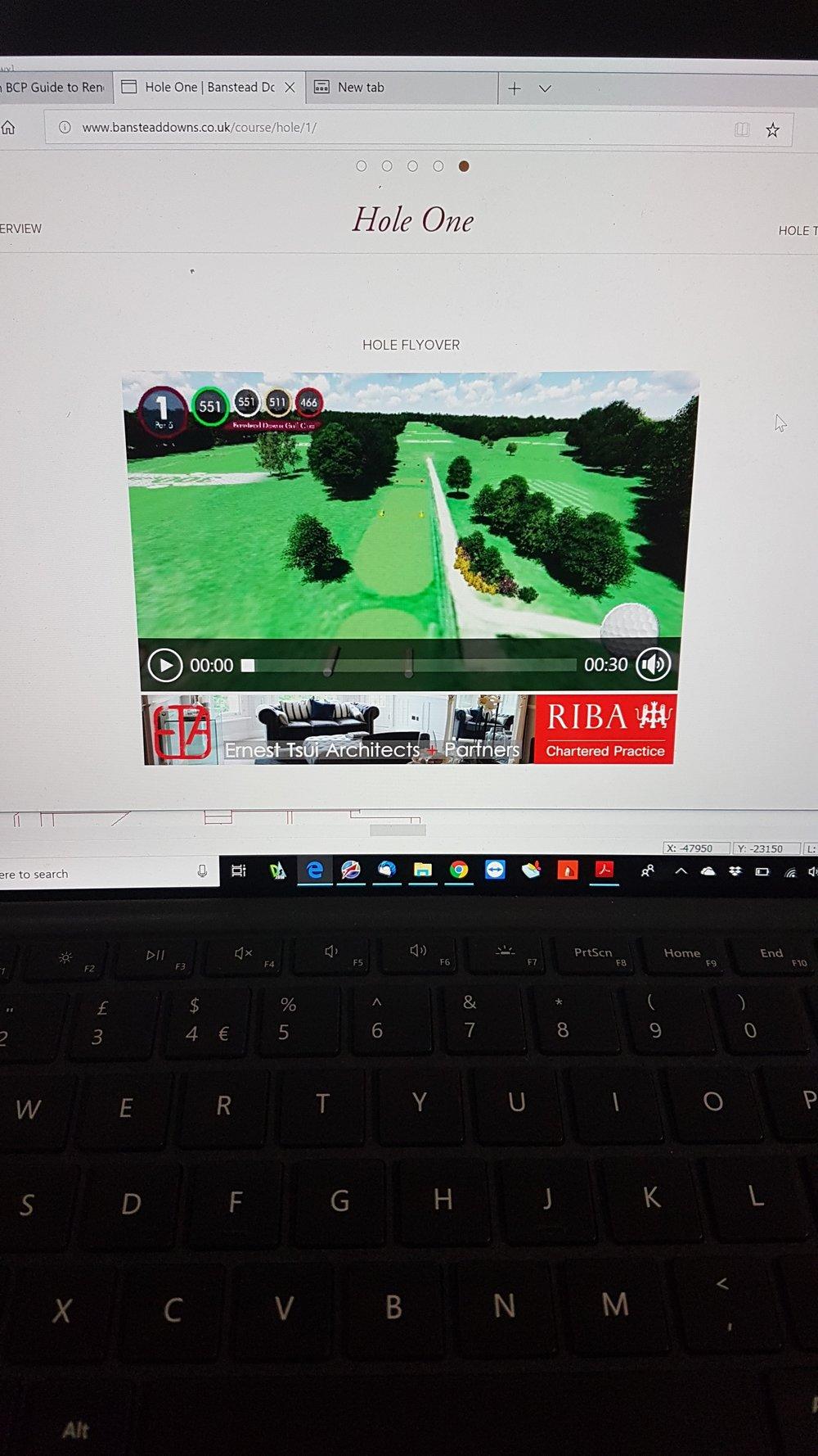 Sponsored hole app.
