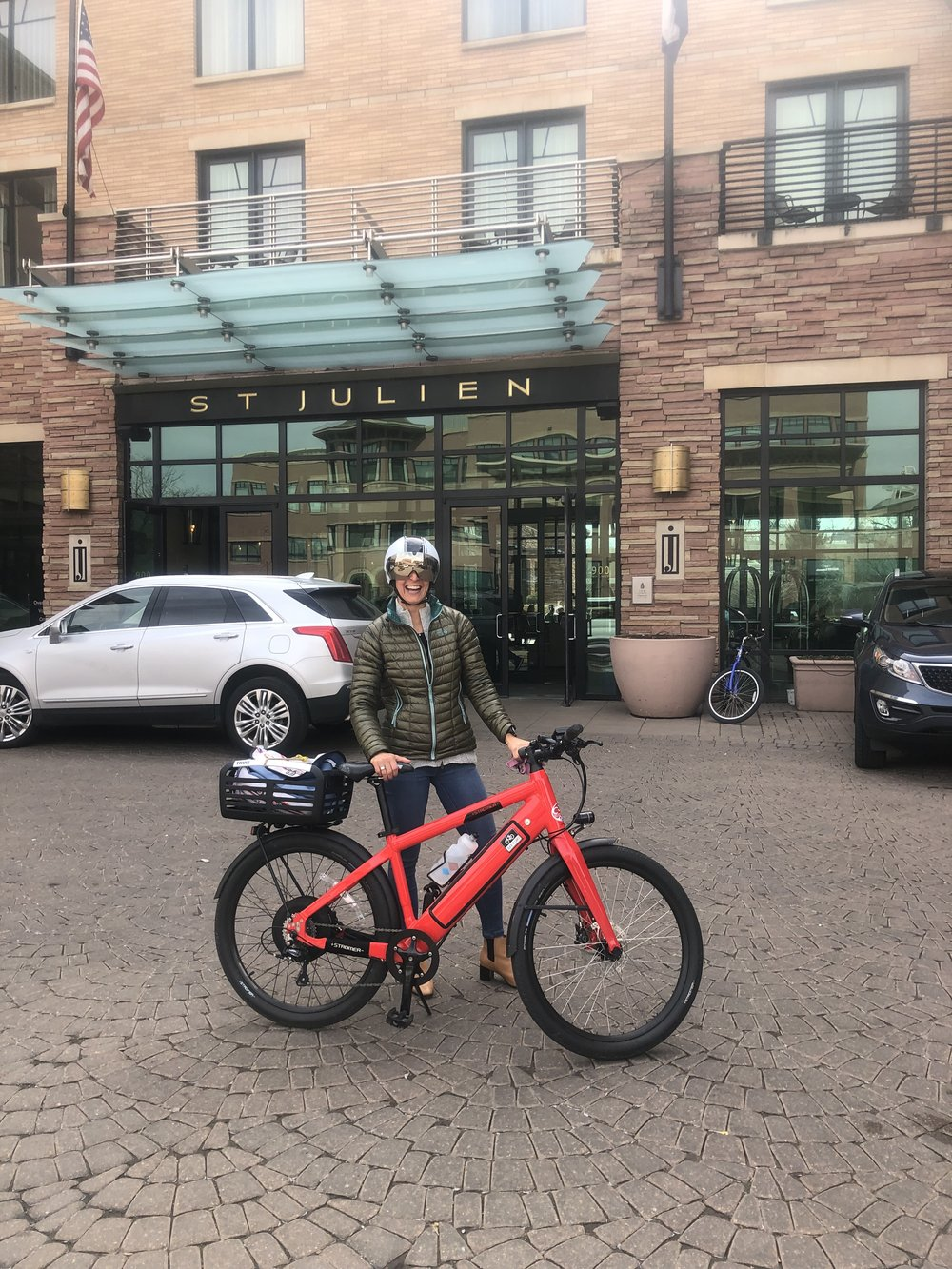 Spring 2019: e-bike commute from Golden to Boulder for a legal seminar.