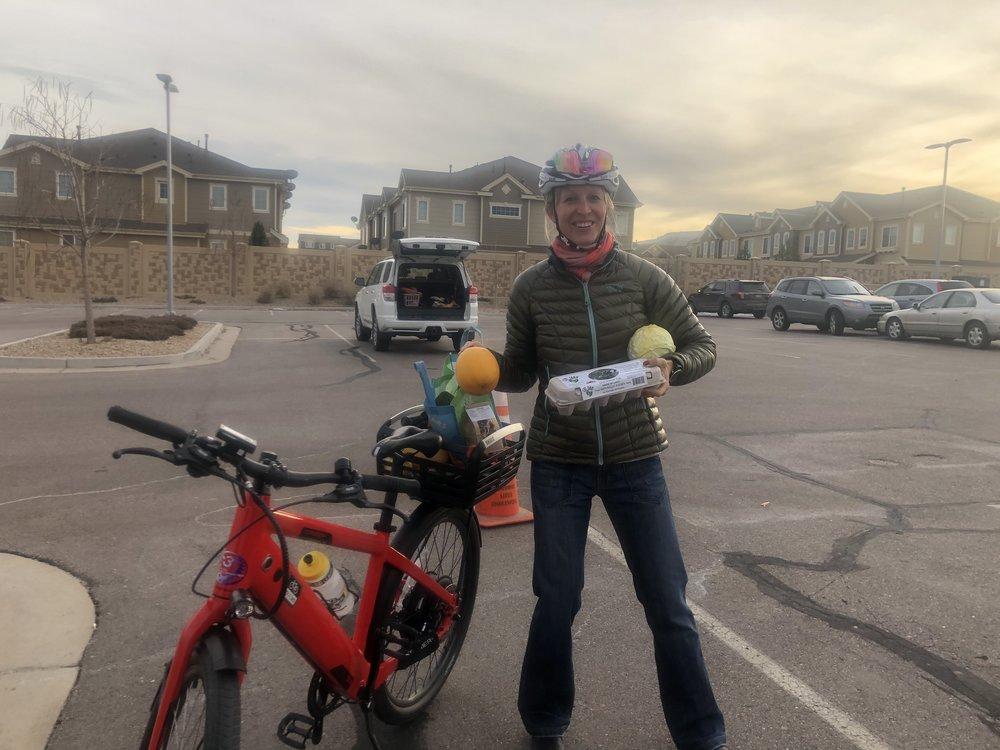 I pick up my weekly CSA share by bike! #GoFarm