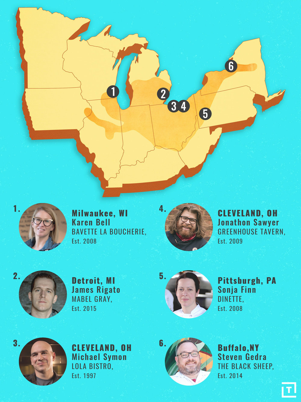 Rust Belt States Map.How Food Is Bringing The Rustbelt Out Of Its Decades Long Recession