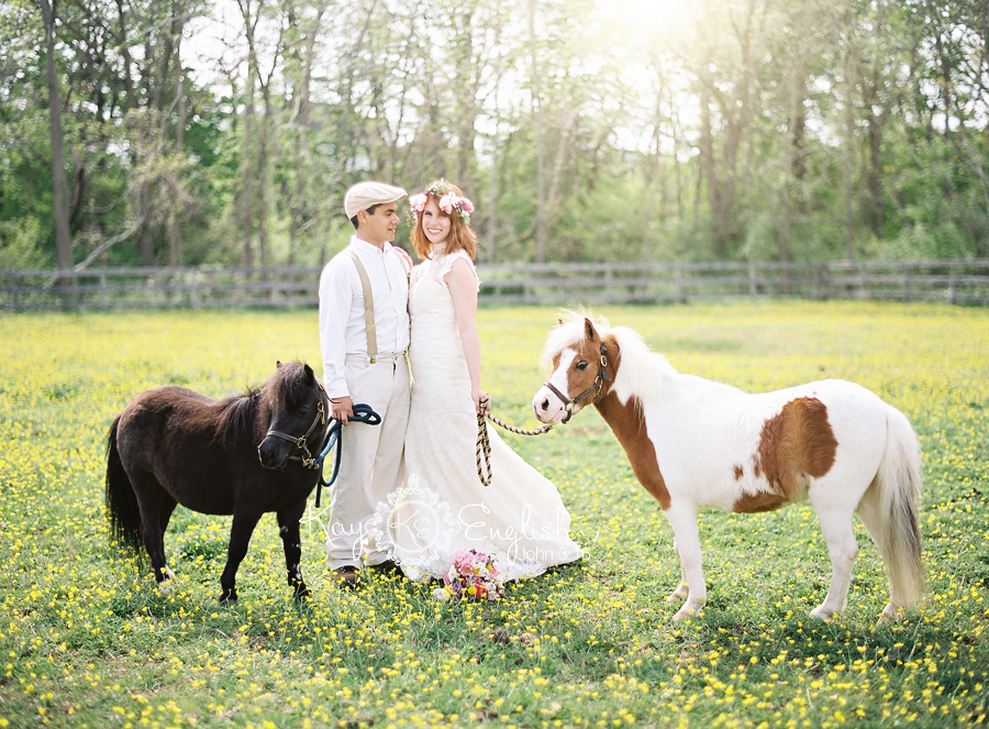 Dreams do come true with wedding ponies.  Photo by  Kay English Photography