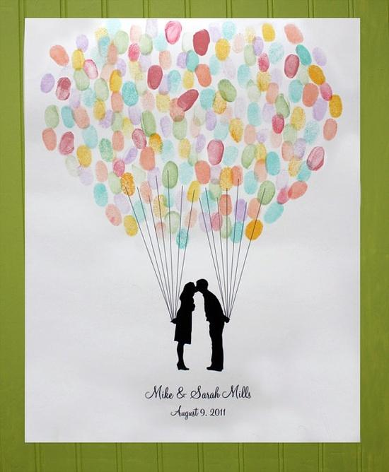 Thumbprint Balloons  Photo by  Weddbook