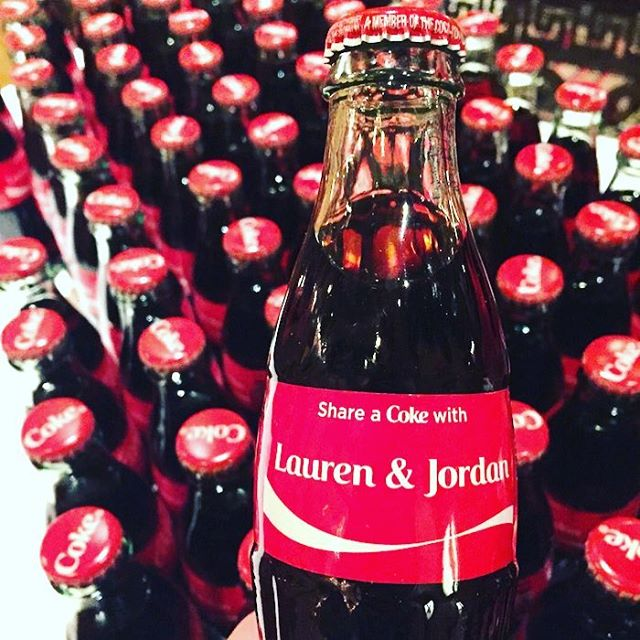 For all of the couples who ❤️@cocacola & want them to be a part of their special day!⎜📷: Mark C. Owen #weddingphotography #wedding #weddinginspo #cocacola #weddinginspiration #haveacokewith #bridetobe #weddingparty #bridalparty #weddingfavors
