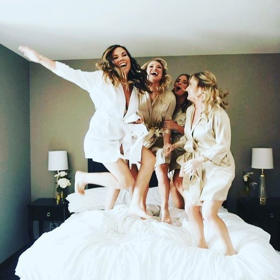 Hope you're having an amazing time this #GalentinesDay 👯❤️ 📷: @bashcoevents #weddingphotography #weddinginspo #bridetribe #bridesmaids #gettingready #brides #bridetobe #wedding