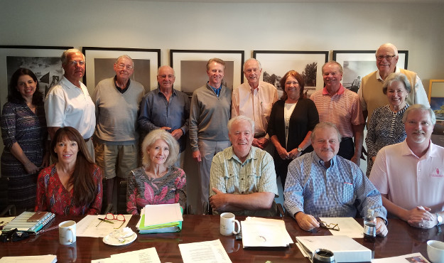 The Charitable Foundation of the Islands' Board of Directors with 2017 Sanctuary Golf Challenge representatives, standing, from left, Melissa Congress, Tony Lapi, Michael Kelly, Paul Roth, Brett Kist (Sanctuary Director of Golf), Al Hanser, Jackie Bingham (Sanctuary Tournament Committee Chair), Tim O'Neill, Ralph Clark, Virginia Stringer, and seated, from left, Mary Ellen Pfeifer, Cindy Brown, Chip Roach, Steve Brown and Chris Heidrick. CFI photo